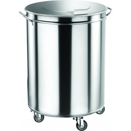 Poubelle cylindrique inox...