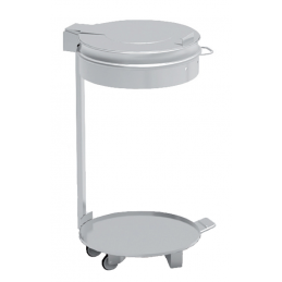 Poubelle support inox 100L...