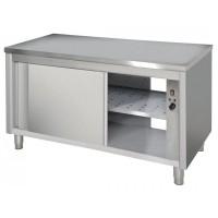 Table Fermée / Traversantes / Centrale & Chauffant / Avec 2 étagères